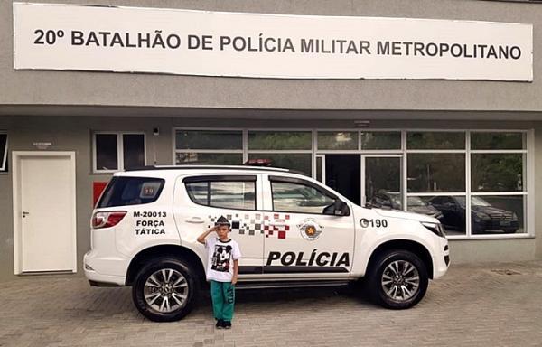 Polícia Militar realiza sonho de criança de 6 anos