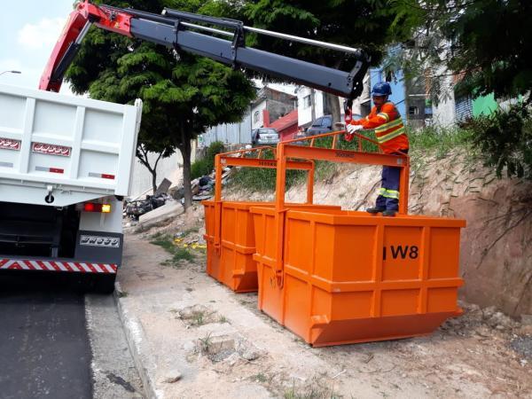 Prefeitura instala caçambas ecológicas para descarte consciente de entulho