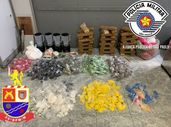 Força Tática apreende mais de 70 kilos de drogas em Osasco