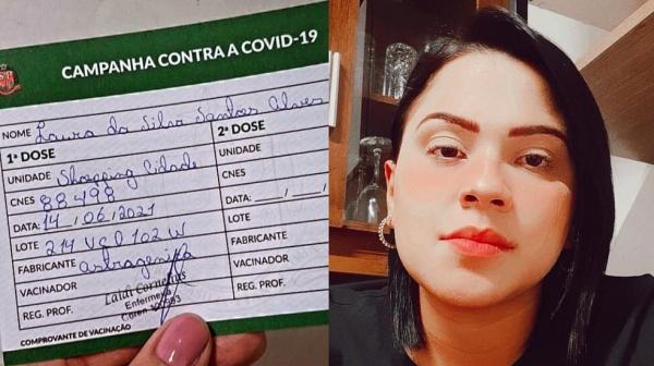 Psicóloga comemora vacina contra a Covid, mas descobre que imunizante não foi aplicado ao checar vídeo