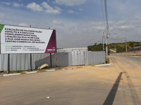 Prefeitura de Barueri inicia obra para novo acesso viário do Centro à Aldeia