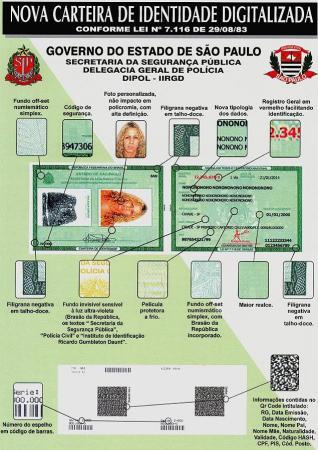 Governo de São Paulo começa a emitir os novos modelos de carteira de identidade
